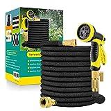 Flexibler Gartenschlauch WasserschlauchFlexibel mit 10-Funktions-Düse Brause Adapter aus Messing Aufhänger Bewässerung Gartenarbeit Autowäsche Hof 50FT(15m)/75FT(22.5m)/ 100FT(30m)/ 150FT(45m) (22.5)