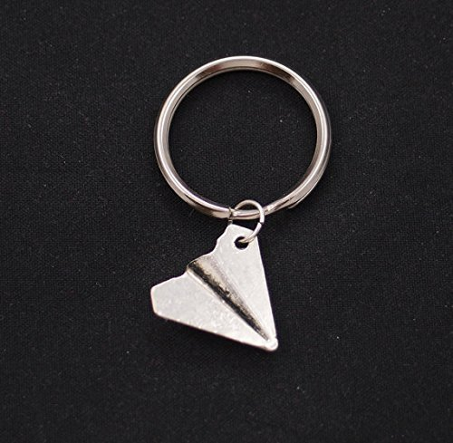 Paper Airplane Keychain, Harry styles, One Direction portachiavi, argento aereo portachiavi, Boyfriend Gift, 1D UK Boy Band, portachiavi