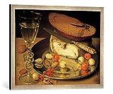 Gerahmtes Bild von Georg Flegel Stilleben mit Käse und