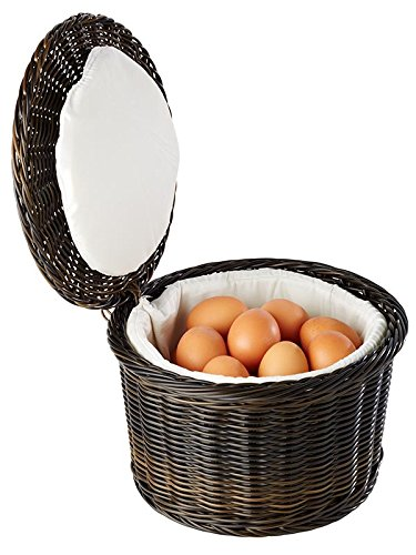 "Eierkorb \""PROFI LINE\"" für ca. 20 Eier, aus Polypropylen mit Draht aus Edelstahl am Rand / Ø 26 cm, Höhe: 17 cm | SUN"