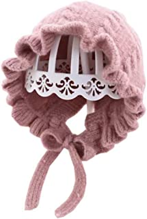 Baby Girl Knitted Hat Autumn Earflap Beanie Warm Pompom Infant Toddler Boys Hats