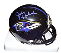 John Harbaugh Autographed Baltimore Ravens Mini Helmet W/PROOF, Picture of John Signing For Us, Baltimore Ravens, Super Bowl XLVII Champs