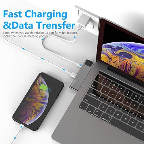 USB C HUB Kompatibel für Macbook air/Pro M1 MacBook Pro 2020-16 MacBook Air 20-18, MacBook Pro Adapter Zubehör mit 40Gbs Thunderbolt 3, 1* Gigabit Ethernet, 1 HDMI, 2 USB 3.1, SD/Micro SD Kartenleser