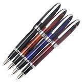 4 x Penna stilografica in metallo Gullor B517, penne regalo con convertitori, 4 colori diversi