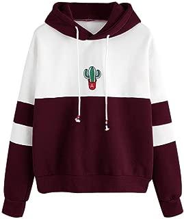 🍒 REYO [S-XL] 🍒 Womens Sweatshirt Cactus Print Hoodie Long Sleeve Pullover Casual T-Shirt Blouse Tops