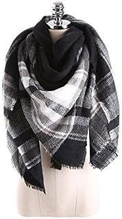 Ancia Women Tartan Scarf Stole Plaid Blanket Checked Scarves Wraps Shawl