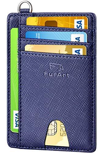 FurArt Crédito Billetera, Cartera Pequeña Tarjetero,8 Tarjetas,Billetera Minimalista con Bloqueo RFID para Hombre y Mujer