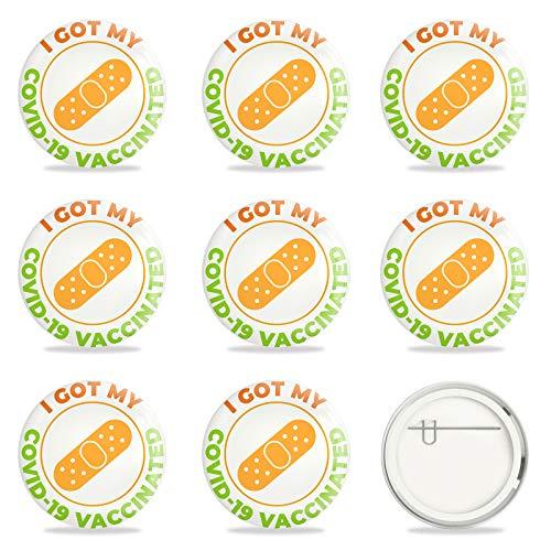 GLOBLELAND 9 Piezas Pinback Button Badges vacunados para Virus vacunados contra Covid 19 Pines COVID-19 alfileres de botón de Vacuna