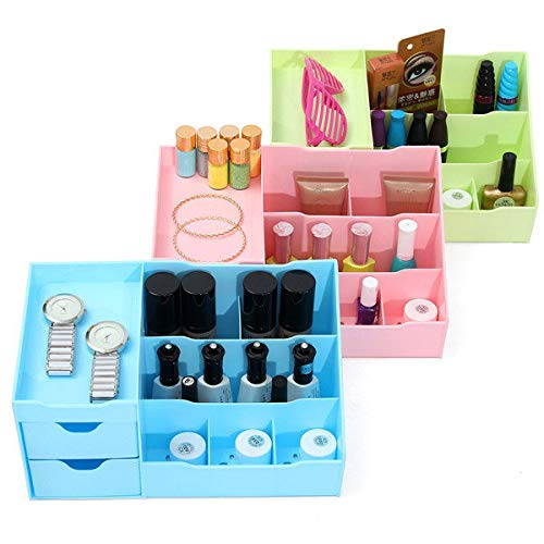 Delighted 3 Colors Plastic Cosmetic Organizer Pull Out Storage Compartment Makeup Tool Nail Polish Case