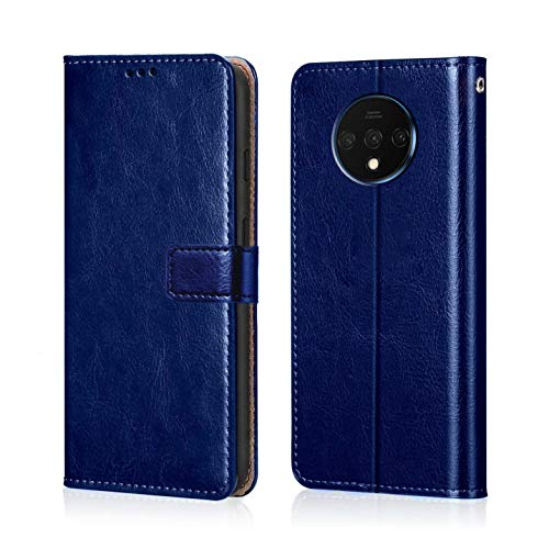 WOW Imagine OnePlus 7T Flip Case Leather Finish | Inside TPU with Card Pockets | Wallet Stand | Shock Proof...