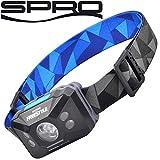 Spro Freestyle Sense Optics Black - Kopflampe zum Angeln, Angellampe zum Nachtangeln, Taschenlampe...