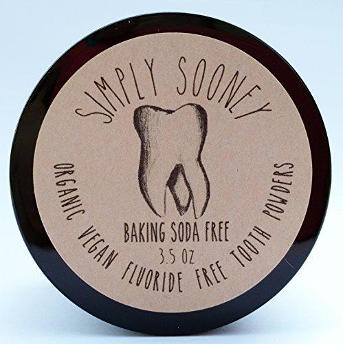 Organic Vegan Fluoride Free Tooth Powder Baking Soda Free, Cinnamon and Clove Flavor, Value Size 6 Month Supply