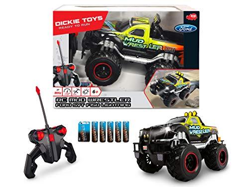 RC Auto kaufen Monstertruck Bild 5: Dickie Toys 201119455 - RC Ford F150 Mud Wrestler, funkferngesteuerter Monstertruck inklusive Batterien, 30 cm*