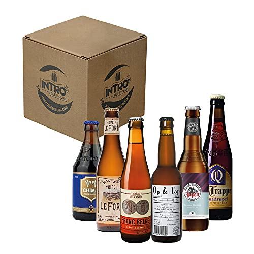 INTRO BEER CLUB Box Degustazione Birre Artigianali - Selezione di Birre dal Mondo'Olanda vs Belgio' - Kit con 6 Bottiglie da 33cl - Confezione Idea Regalo Uomo