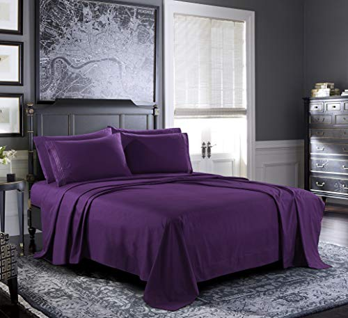 hotel life sheets purple - 1