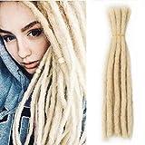 100% Human Hair Dreadlocks Extension For Men/Women 20inch Handmade Locs 613# Blonde Short Hip-hop Locs Reggae Crochet Braiding Hair 20 Locs/pack 130G Can Be Dyed