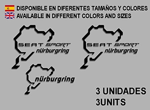 Ecoshirt EO-SCLN-O6AY Pegatinas Stickers Seat Sport