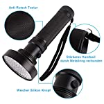 UV Light Torch Black Light 100 LED,Ultraviolet Lamp Flashlight with UV Protection Glasses,395nm Led UV Flashlight,Blacklight Torch Detector for Pet Urine Stains of Carpet/Floor,Resin,Camping,Large 9