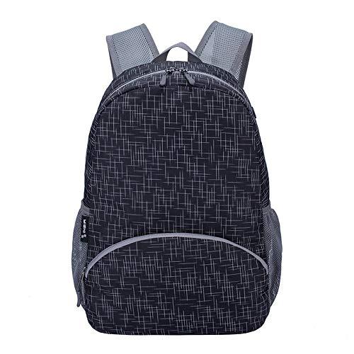 Ys-s Personalización de la Tienda Mochila Plegable de 20l Oxford 14 Pulgadas de Laptop de Laptop Ultralight Impermeable Escolar Bolso de la Escuela al Aire Libre Viajes de Carpa (Color : Black)