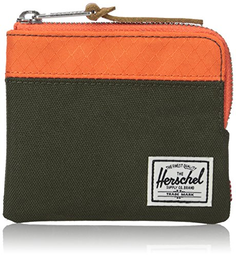 THE HERSCHEL SUPPLY CO. BRAND - JOHNNY RFID POLY WALLET FOREST NIGHT/VERMIL