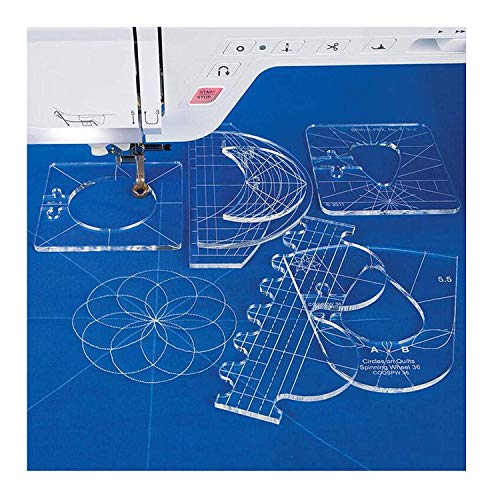 YICBOR Nieuwe Liniaal Sjabloon Sampler Set voor Huishoudelijke Naaimachine 1 Set = 6 stks #RL-06 met Metalen Frame Quilting Borduurwerk Naaimachine Ruler Voet RL-06(2.9mm)+Low Shank Ruler Foot