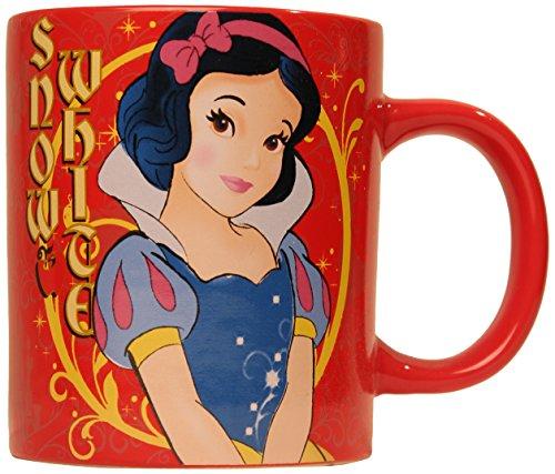 Silver Buffalo Disney Snow White Standing Ceramic Mug, 14 oz., Red