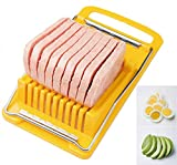 Happy Sales HSMS-SLCR10, Japan Made Convenient Kitchen Luncheon Meat Spam Cheese Slicer Avocado Egg Slicer Quality Stainless Steel Wire Slicer BPA Free
