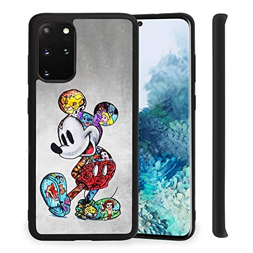 DISNEY COLLECTION Case for Samsung Galaxy S20 Plus 5G (6.7 inch) Mickey Mouse Soft TPU Hard PC Cute Frosted Slim Rub Shock Absorption Bumper Protective Galaxy S20+ Cover