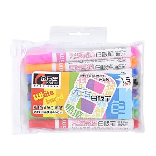 SH-RuiDu Direct Store Gekleurde Whiteboard Pen Set, 8 PCS/set Gekleurde Niet-giftige Erasable Whiteboard Marker voor Kinderen Graffiti Schilderen