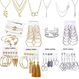 51 PCS Gold Silver Jewelry Set w...