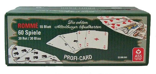 ASS Altenburger Karten Spielkarten Romme 60 Spiele 55 Blatt Rot-Blau