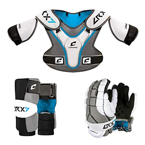 CHAMPRO LRX7 Lacrosse Pad Sets, GREY , Medium