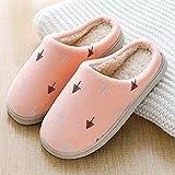 B/H Peluche Zapatos Memory Foam,Zapatillas de Felpa de Invierno, Bolso Antideslizante y cómodas Zapatillas de algodón-Rosa Claro_36 / 37