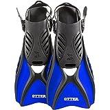 IST FK31 Otter Trek Fins for Swimming, Snorkeling, Scuba, Watersports Blue Small (Size:4-7)