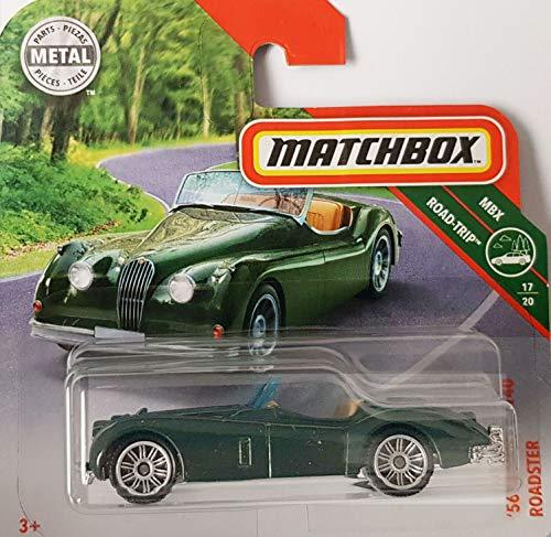 Matchbox* '56 Jaguar XK 140 Roadster - Cabrio-Oldtimer - 1:64 - Farbe: dunkel-Olive-grün