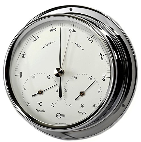 Barigo Regatta weerstation barometer thermo-hygrometer chroom 120mm