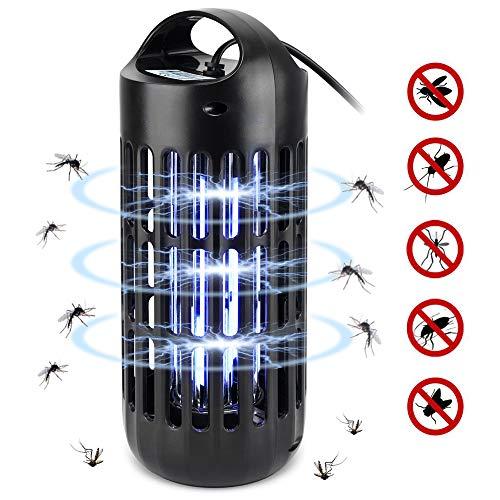 AUTSCA Lámpara Antimosquitos, UV LED Lámpara Mosquitos Destructora de Insectos eléctrica 9W Sin químicos tóxicos, Lámpara de Interior y Jardin para Mata Mosquitos, Insectos, Polillas, Moscas