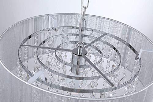 Saint Mossi Moderne K9 Kristall Regentropfen Kronleuchter Beleuchtung Unterputz LED Deckenleuchte Pendelleuchte für Esszimmer Badezimmer Schlafzimmer Wohnzimmer Breite 43 x Höhe 27 cm - 9