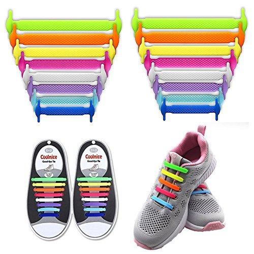 lattoge keine Krawatte Silikon Schnürsenkel Lace Lock Bands für Kinder, Erwachsene Athletic Running Schuh Schnürsenkel, Sneakers