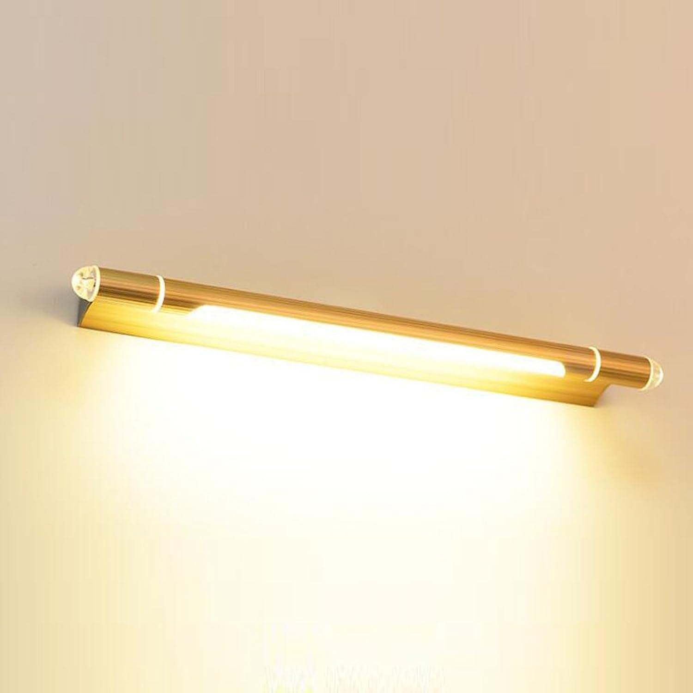 YJLGRYF wandleuchte LED Waschtisch Spiegel Lampe Wasserdicht Anti-Fog Gold (Farbe   Warmes weies Licht, gre   53cm 7W)