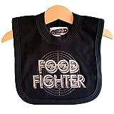 Alimentos Fighter Funny Baby–Babero para ventiladores de Foo Fighter por Nippaz con actitud