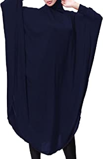 Winwinus Womens Jalabiyas Islamic Muslim Dress Aztec Big Pendulum Hijab Two in One
