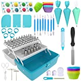 Cake Decorating Tools 246-Piece Piping Bags and Tips Set Cake Decorating Kit with 62 Piping Tips Cake Decorating...