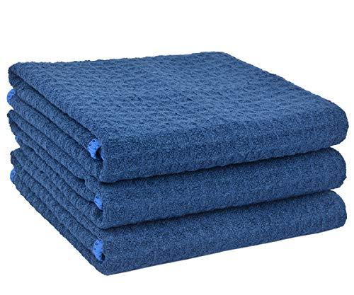 Sinland Paño de microfibra para limpieza con diseño en ondas paños de cocina toallas de cocina trapos de cocina toallas de mano (3 unidades)