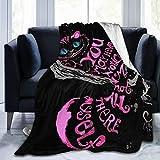 Alice in Wonderland Cheshire Cat Ultra-Soft Micro Fleece Blanket Soft Flannel Blanket for Bedding Sofa 50'X40'