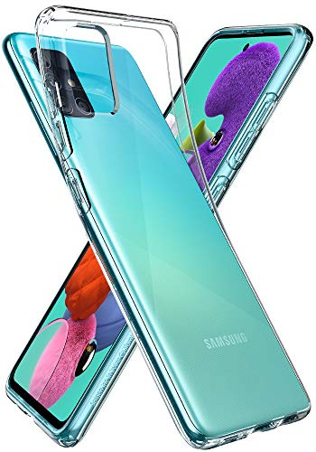 Spigen Liquid Crystal Kompatibel mit Samsung Galaxy A51 Hülle ACS00564 Transparent TPU Silikon Handyhülle Kratzfest Durchsichtige Schutzhülle Flex Case, LC Crystal Clear