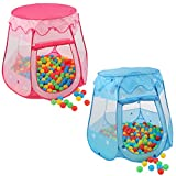 KIDUKU® Tente de Jeu pour Enfants + 100 balles + étui de Transport (Rose)