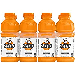 Gatorade Zero Sugar Thirst Quencher, Orange, 20 Ounce Bottles (Pack of 8)