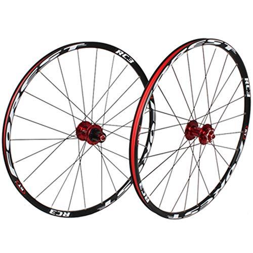 ZNND 26' 27.5' MTB Bicicleta Delantera Rueda Trasera Doble Pared Rodamiento Sellado Freno Disco QR 7 8 9 10 11 Velocidades 24H (Color : D, Size : 27.5in)