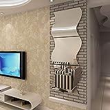 Meiwen2019 Adesivi Murali, Adesivi da Parete 3D Ondulati a Specchio Wall Stickers Home Decoration,Fai da Te, per la Casa, Il Soggiorno, la Camera da Letto, Il Divano, la TV (Argento, 3pcs,25 * 30cm)